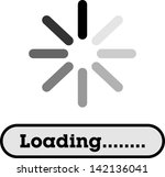 loading  streaming  buffering ... | Shutterstock .eps vector #142136041