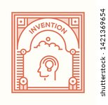 invention and illustration icon ... | Shutterstock .eps vector #1421369654