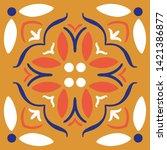 seamless moroccan ornament... | Shutterstock .eps vector #1421386877