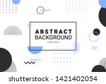abstract geometric memphis... | Shutterstock .eps vector #1421402054