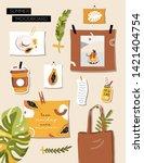 inspiration summer mood board.... | Shutterstock .eps vector #1421404754