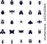 insect icon set vector design... | Shutterstock .eps vector #1421410364