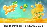 horizontal banner with 3d... | Shutterstock .eps vector #1421418221