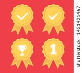 award vector icon. illustration ...   Shutterstock .eps vector #1421421467