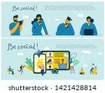 be social  vector illustration... | Shutterstock .eps vector #1421428814
