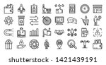 buyer icons set. outline set of ... | Shutterstock .eps vector #1421439191