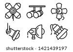 spotlight icons set. outline... | Shutterstock .eps vector #1421439197
