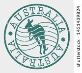 australia travel stamp.... | Shutterstock .eps vector #1421439824