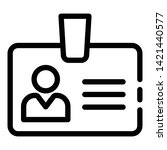 admin badge icon. outline admin ... | Shutterstock .eps vector #1421440577