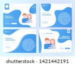 medical insurance web page... | Shutterstock .eps vector #1421442191