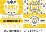 Honey Banner Set. Outline Set...