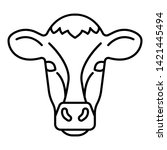 cow head icon. outline cow head ... | Shutterstock .eps vector #1421445494