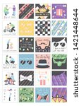 set with beautiful collection... | Shutterstock . vector #1421448644