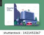 medical insurance   hospital... | Shutterstock .eps vector #1421452367
