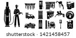 petrol station icons set.... | Shutterstock .eps vector #1421458457