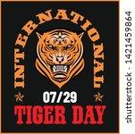 vector illustration tiger.... | Shutterstock .eps vector #1421459864