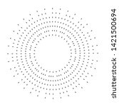 radial speed lines in circle... | Shutterstock .eps vector #1421500694