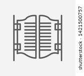 saloon door icon line symbol....