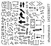 arrows doodle vector . set of...   Shutterstock .eps vector #1421508377