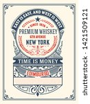 vintage label for liquor design | Shutterstock .eps vector #1421509121