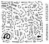 set of vector doodle drawing... | Shutterstock .eps vector #1421512367