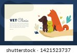 Stock vector design for vet clinic pet care medicine veterinary hospital vector illustration with healthy 1421523737