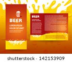 brochure beer splash | Shutterstock .eps vector #142153909