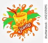 juice drink beverage splash...   Shutterstock .eps vector #142155091