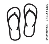 flip flops sandal beach wear... | Shutterstock .eps vector #1421551307