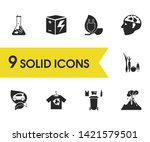 eco icons set with reuse...