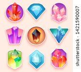 colorful badges with vector... | Shutterstock .eps vector #1421590007