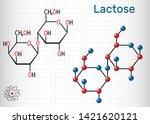 lactose  milk sugar molecule ... | Shutterstock .eps vector #1421620121