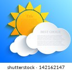 Vector Sun With Clouds...