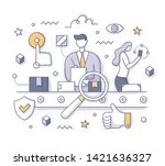 quality control in production... | Shutterstock .eps vector #1421636327