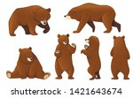 set of grizzly bears. north... | Shutterstock .eps vector #1421643674