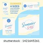 summer sale banner concept... | Shutterstock .eps vector #1421645261