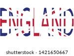 england word through its flag... | Shutterstock .eps vector #1421650667