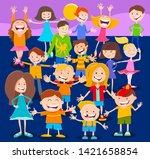 cartoon illustration of happy... | Shutterstock .eps vector #1421658854