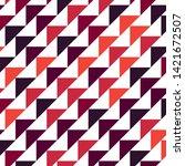 abstract geometric polygonal... | Shutterstock .eps vector #1421672507