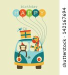 Fun Happy Birthday Card Design. ...