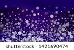 snowflake border with... | Shutterstock .eps vector #1421690474