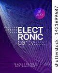 techno event. futuristic show... | Shutterstock .eps vector #1421699687