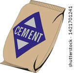 cement bag isolated on white... | Shutterstock .eps vector #1421701241