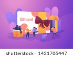 gift card and promotion... | Shutterstock .eps vector #1421705447