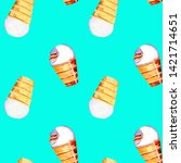 Seamless Pattern Ice Cream...