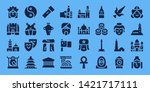culture icon set. 32 filled...   Shutterstock .eps vector #1421717111