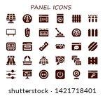 panel icon set. 30 filled panel ... | Shutterstock .eps vector #1421718401