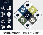 celtic icon set. 13 filled...   Shutterstock .eps vector #1421719484