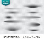 vector shadows set on... | Shutterstock .eps vector #1421746787