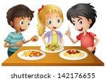 illustration of the kids... | Shutterstock . vector #142176655